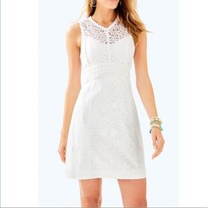 NWT Lilly Pulitzer White Leigh Stretch Shift Dress